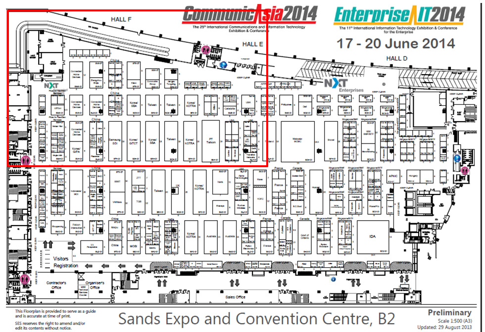 layout of communicasia